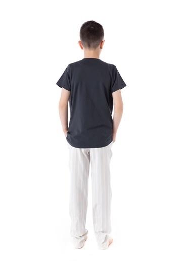 Pamuk & Pamuk Baskılı Genç Erkek Pijama Takım Renkli